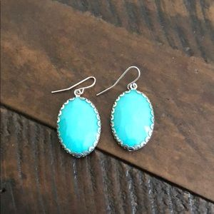 Adorable turquoise drop earrings
